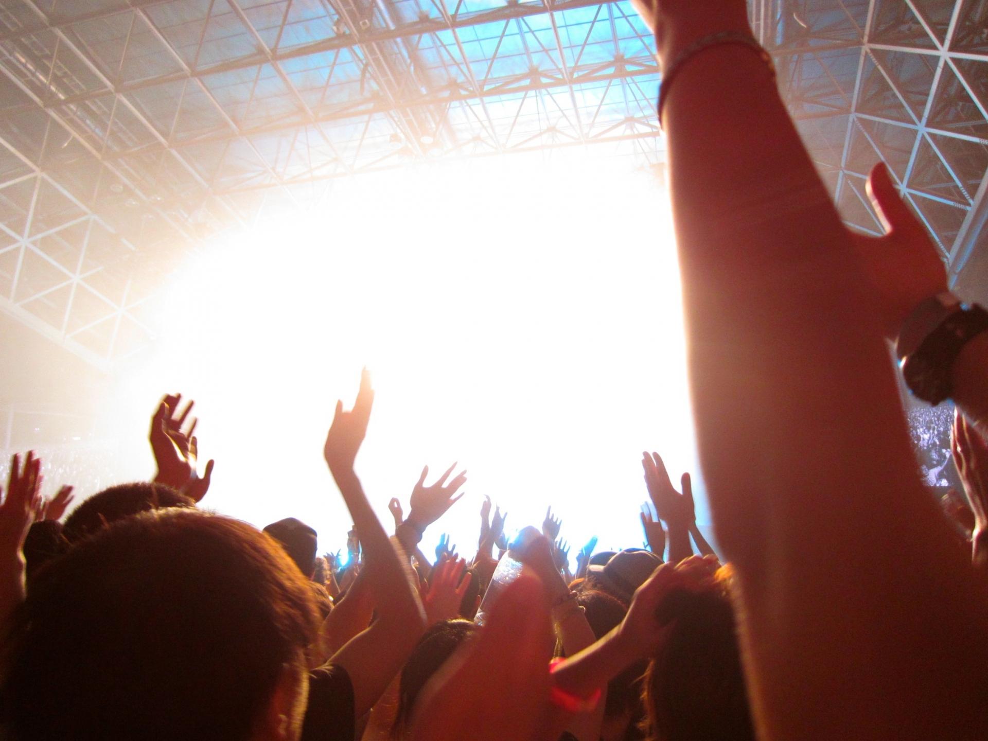 ライブで盛り上がる人々